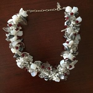 Jewelry - NEW Nos Czech Glass Leaf Berry Necklace